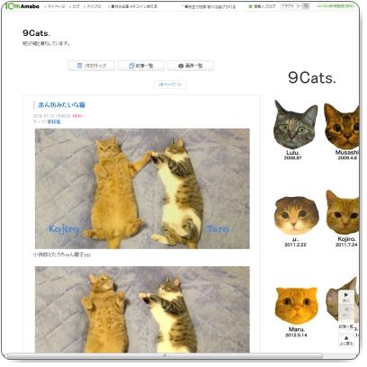 http://ameblo.jp/neko9-cats/