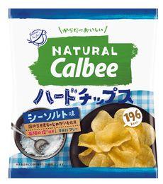 Natural Calbee ハードチップス シーソルト味